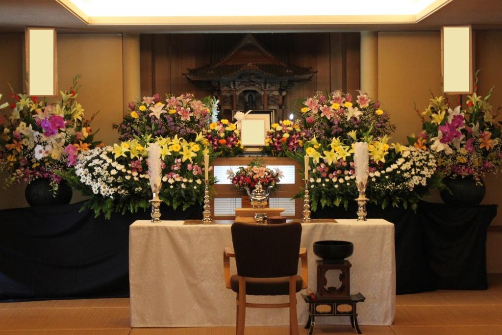 心泉の家族葬 花プランとお届け花