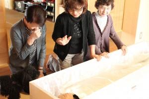 祭壇フェア納棺体験